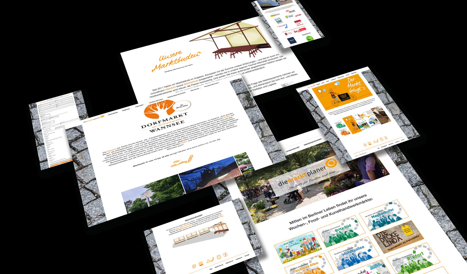 Website Wochenmärkte
