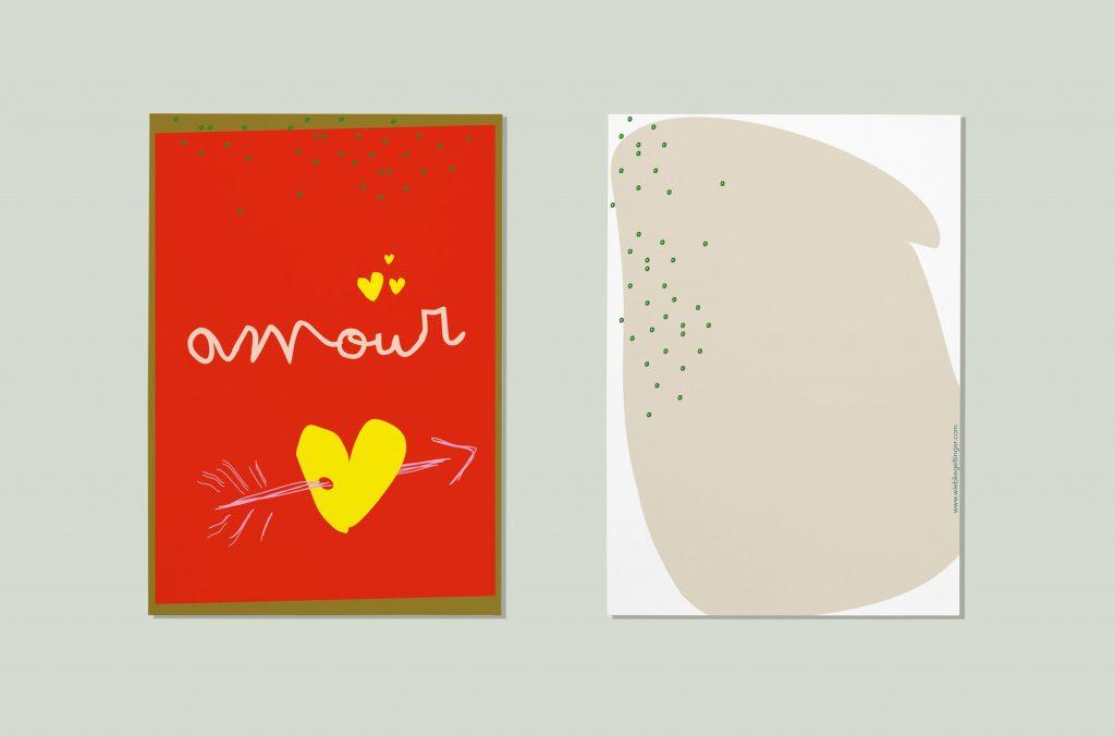 amour Liebe Postkarte