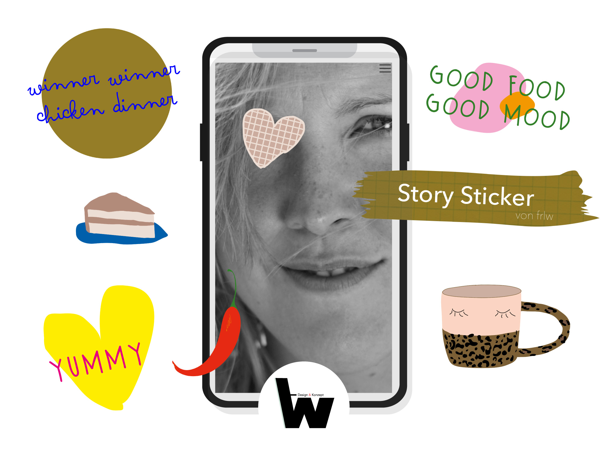 Story-Sticker Food