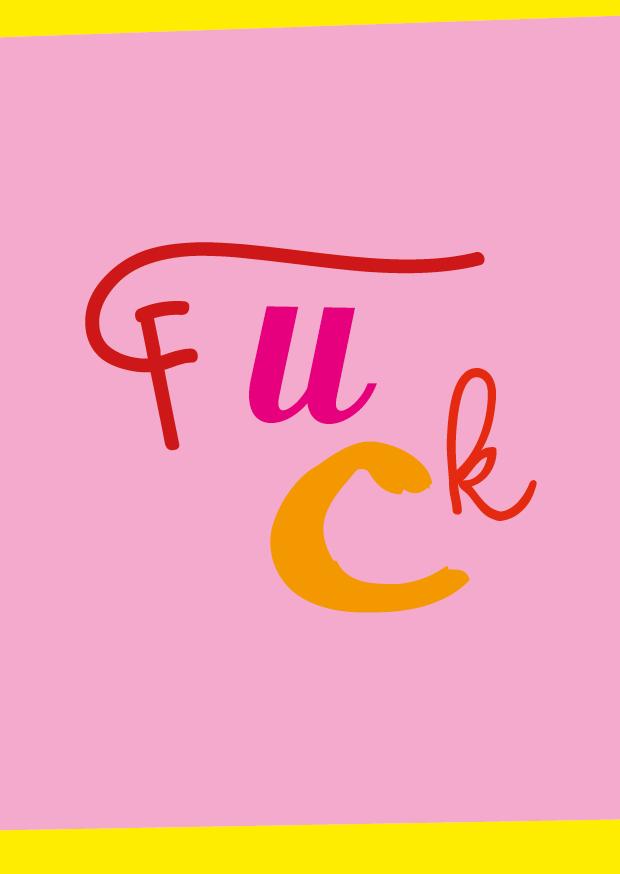 Fuck – Postkarte