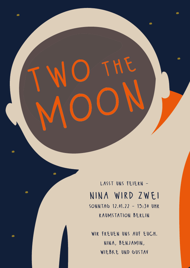 Two the moon – Geburtstagseinladung